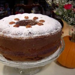 Pumpkin Pecan Cake With Ginger Whipped Cream