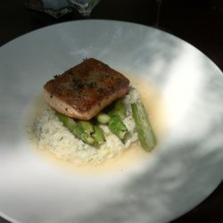 Salmon Risotto With Dill & Lemon