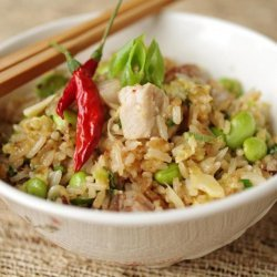 Pork and Edamame Fried Rice