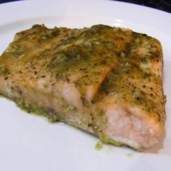Sweet Pesto Salmon recipe