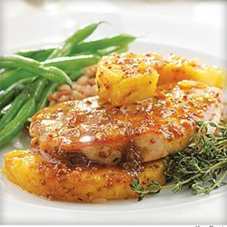 Pineapple-Pork Chop Skillet