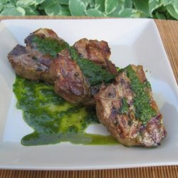 Lamb Chops With Cilantro-Mint Chimichurri