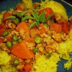 Ground Turkey, Sweet Potato & Pea Curry