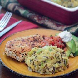 Green Chile-Rice Casserole