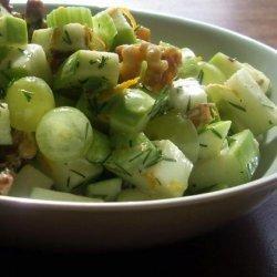 Apple Walnut Dill Salad