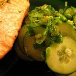 Salmon, Cucumber Chili Salad