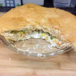 Phyllo Chicken Pot Pie from Frozen Phyllo Dough