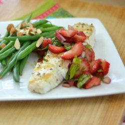 Halibut With Strawberry Salsa