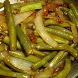 Green Beans With Red Onion and Mustard Vinaigrette