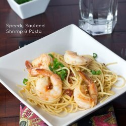 Sauteed Shrimp and Pasta