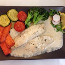 Tilapia With Creamy Lemon Sauce