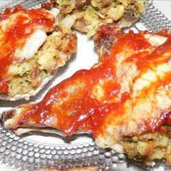Microwave Stuffed Pork Chops