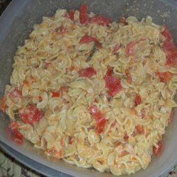 Spaetzle in Herbed Tomato Cream Sauce