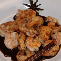 Rum Glazed Shrimps