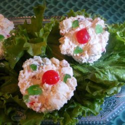 Christmas Frozen Cream Cheese Fruit Cups