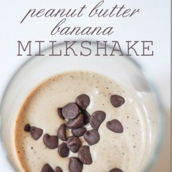 Peanut Butter Chocolate Banana Milkshake