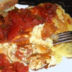 Tom's Veggie Stuffed 3-Egg Omelet