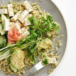 Brown Rice Salad With Salmon