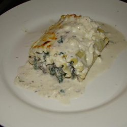Lasagna Roll-Ups With Gorgonzola Cream Sauce