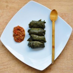 Vegetarian Mushroom and Brown Rice Dolmas recipe