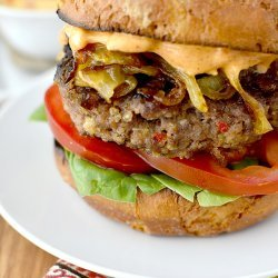 Pepper Burgers With Caramelized Onions