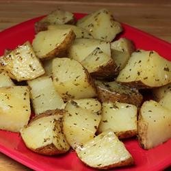 Oven Roasted Greek Potatoes recipe