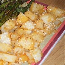 Oven Fried Sesame Potatoes