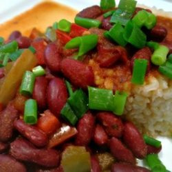 Lighter Cajun Red Beans and Rice