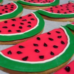 Watermelon Cookies recipe