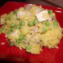 Chicken, Saffron Risotto (Low Fat)