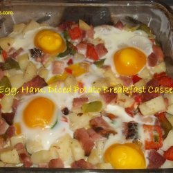 Eggs and Ham Breakfast Bake