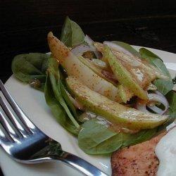 Spinach & Pear Salad With Dijon Mustard Vinaigrette