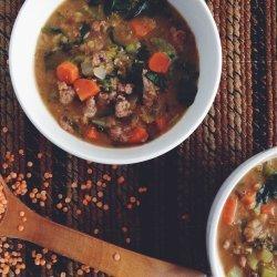Spinach, Sausage & Lentil Soup