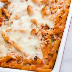 Cheesy Pasta With Spinach