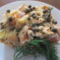 Smoked Salmon Breakfast Casserole