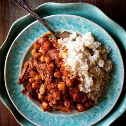 Curried Lamb With Chickpeas