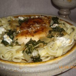 Spinach, Chicken and Feta Noodles