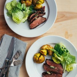 Grilled Steak With Herbs