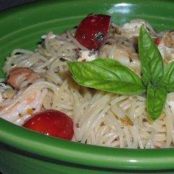 Shrimp With Tomato & Basil Pasta
