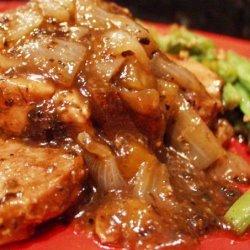 Pork Chops in Tea Berry Sauce