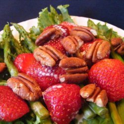 Asparagus, Strawberry Salad With Honey Lime Dressing
