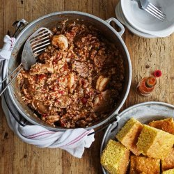 Chicken, Shrimp and Sausage Jambalaya