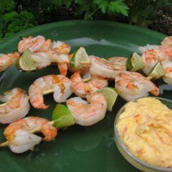 Barbecued Shrimp With Mango Lime Mayonnaise