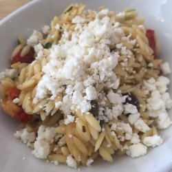 Spinach and Feta Pasta With Olives