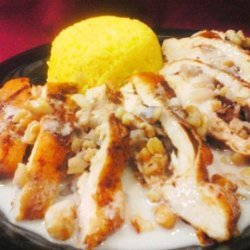 Stuffed Chicken in a Blue Cheese and Pecan Sauce