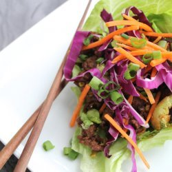 Asian Beef & Lettuce Wraps