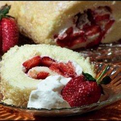 Strawberry Almond Cream Roll Recipe