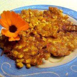 Corn and Marigold Fritters(Angola)