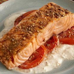 Salmon with Cucumber Sauce