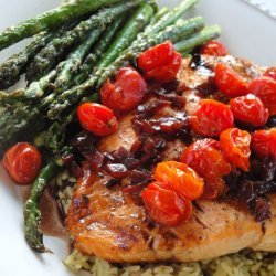 Roasted Salmon & Grape Tomatoes